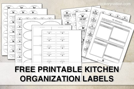 image relating to Free Printable Organizing Labels identified as No cost Kitchen area Company Printables