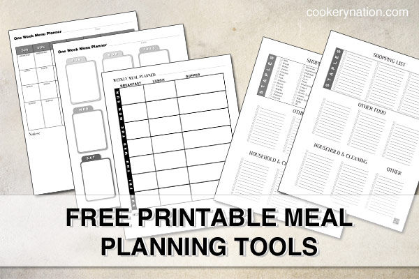 Meal Planning Printables