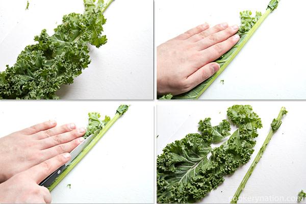 De-stem Kale