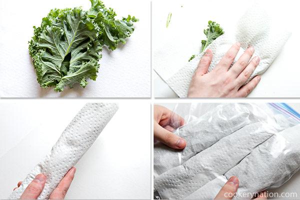 Storing Kale