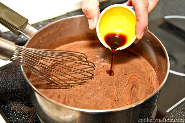 Stir in the vanilla extract.
