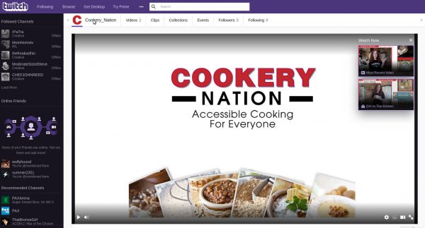 Cookery Nation Twitch
