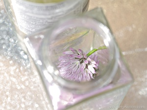 Place blossoms in clean jar